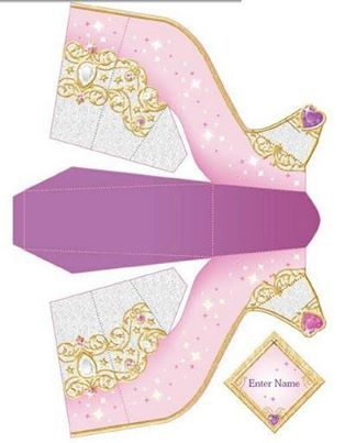 princess shoe card