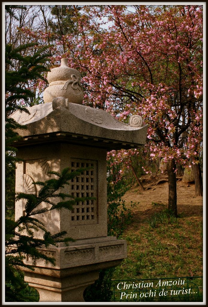 The Japanese Garden in park Herestrau, Bucharest.