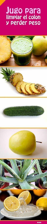 Jugo para limpiar el colon y perder peso Pinterest ;) | https://pinterest.com/cocinadosiempre/ #salud #dietavegetarianafrases