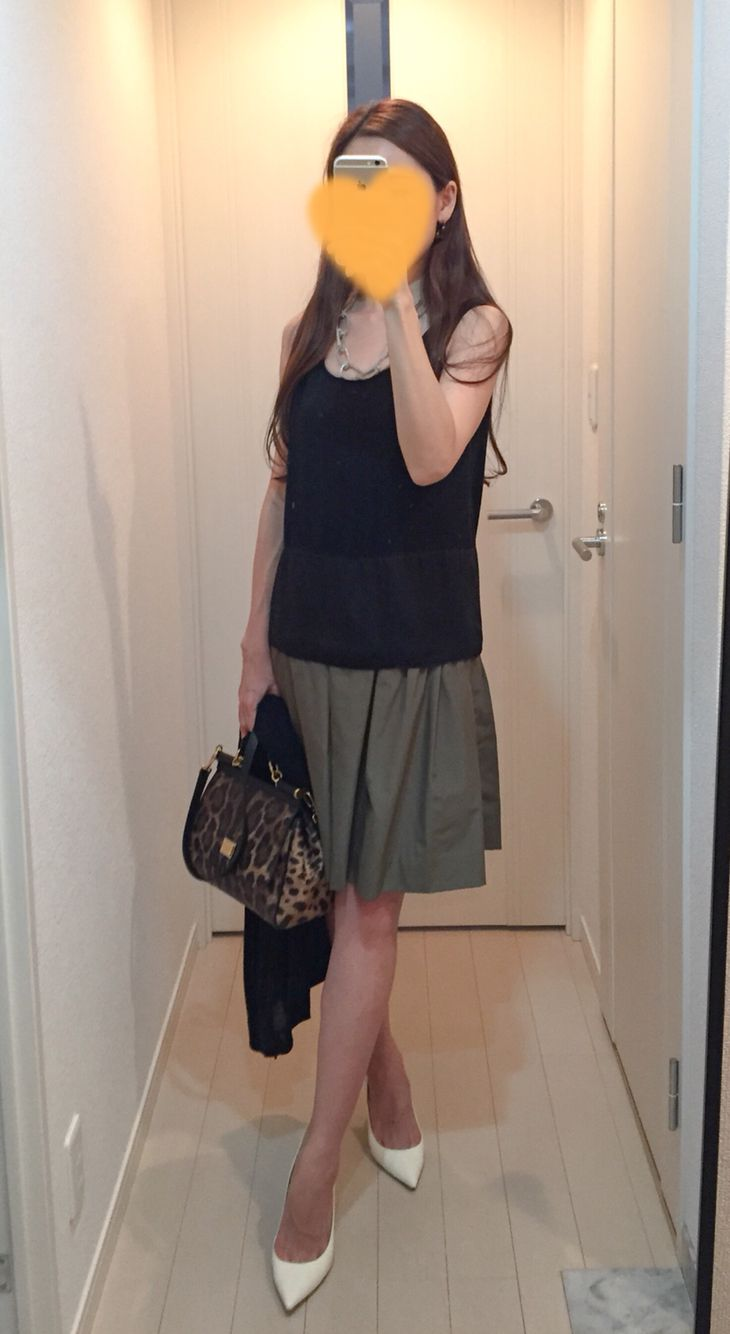 Tops: Nolley's, Skirt: Nolley's, Cardigan: COS, Bag: Dolce&Gabbana, Heels: Jimmy Choo