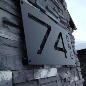 Custom Number Plates Remnant Steel   Photos
