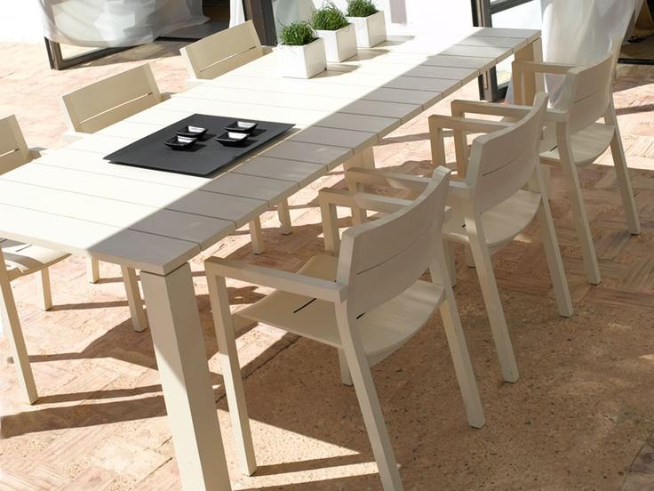 feelathome stockverkoop   design tuinmeubelen - Tribu Kos off white tafel