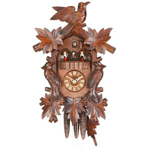 Traditional Cuckoo Clock with Carved Birds - HEKAS