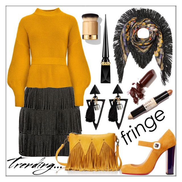 """Shimmy Shimmy: Fringe"" by pat912 ❤ liked on Polyvore featuring Etro, River Island, Christian Louboutin, Urban Originals, NYX, LAQA & Co., fringe and polyvoreeditorial"