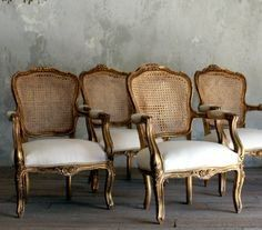one of my favorite style of chairs  french - cottage - elegant - lovely  LOVED by design