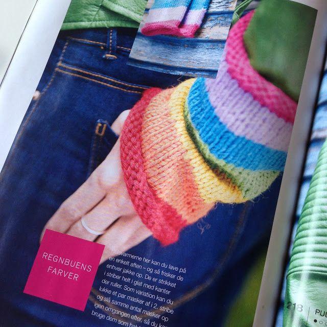 Pulsvarmere i regnbuefarver, Charlotte Kaae for Kreativ strik nr 4 2016…