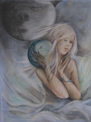 Joanna Wajdenfeld painting pastel on canvas 40x60