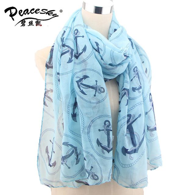 Buy now 2015 Spring brand scarf women High quality fashion cotton winter anchor scarf female bufandas mujer BLS036 just only $5.59 with free shipping worldwide  #womanaccessories Plese click on picture to see our special price for you