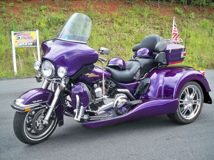 purple harley davidson trike | Harley Ultra Trike Motorcycle Trike For Sale in Denver, NC