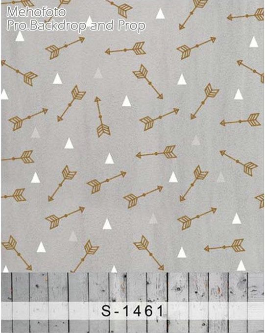 wholesale Arrow White Triangle Wood Photo Backdrop backgrounds for photo vinyl and Flannelette cloth Computer print children kids photo backdrops for sale