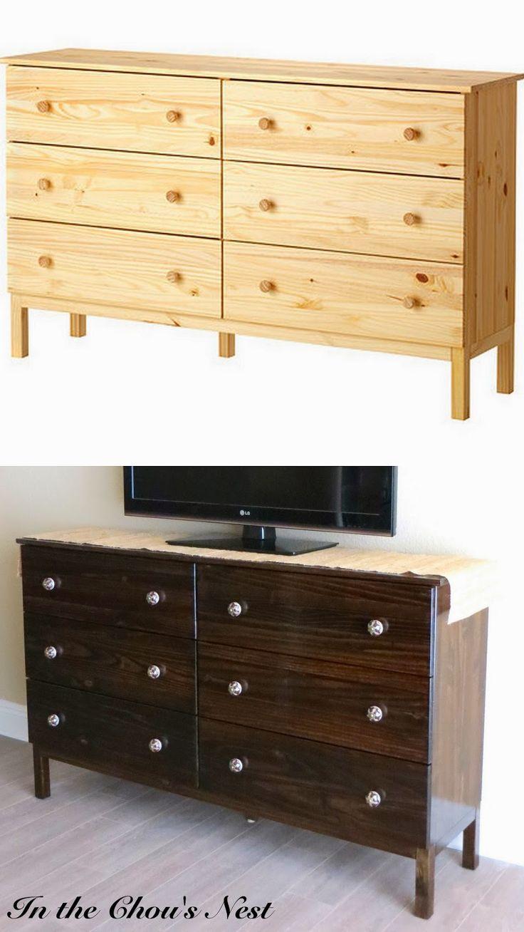 ikea tarva dresser refinished. In The Chou\u0027s Nest: Ikea Hack: Tarva Dresser Refinished A