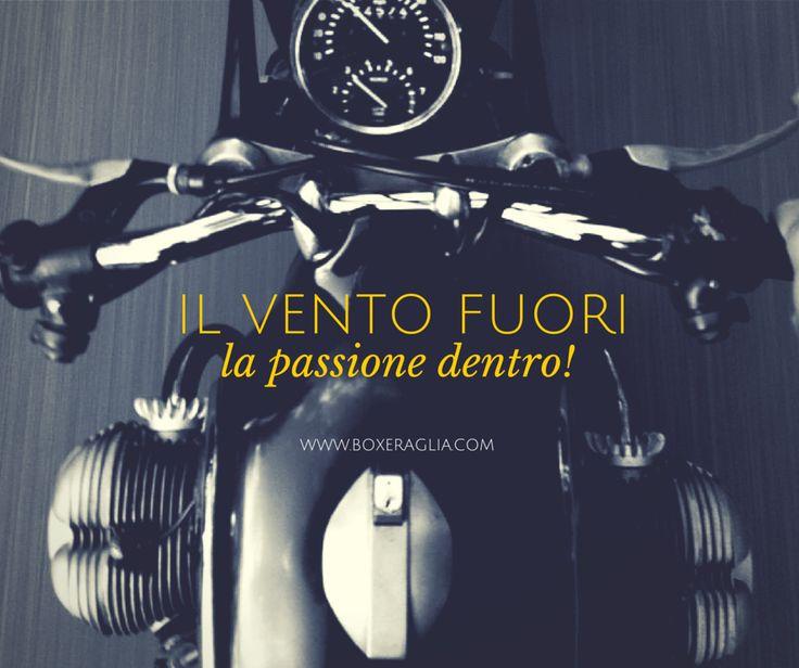 IL VENTO FUORI... LA PASSIONE DENTRO! www.boxeraglia.com #moto #bmw #motorcycle #frasi #quotes