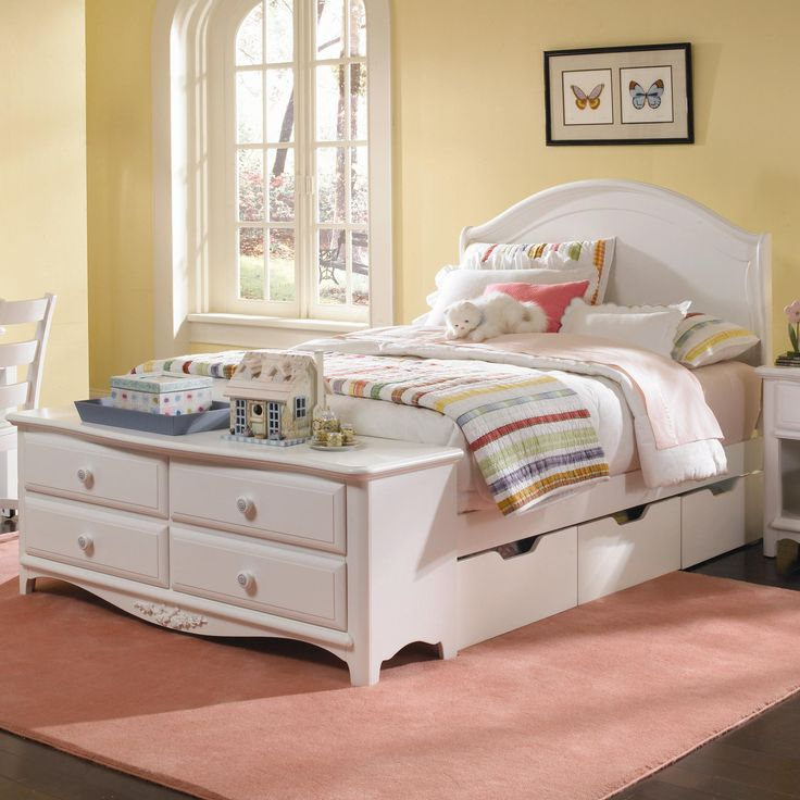 Full Size Beds With Drawers For Girls