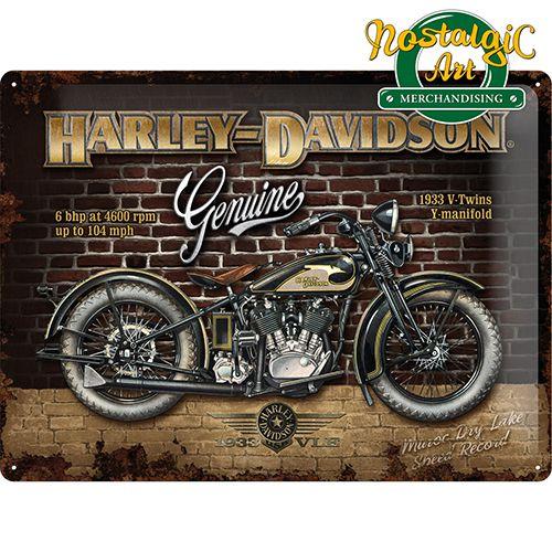 Vintage Harley-Davidson Bike Oldtimer Motorcycles Twin Image Affiche Plaque 104