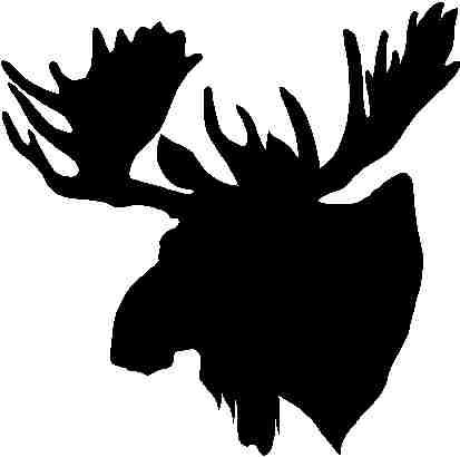 Pics For Gt Black And White Moose Head Stencils And Art