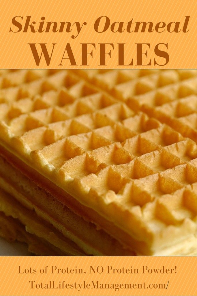 Skinny Oatmeal Waffles - Paleo and Gluten Free. Recipe for ONE! #cleaneating #recipeforone #singleserving