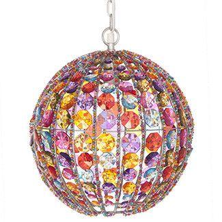 Chandeliers- Multi-coloured Chandelier Ball