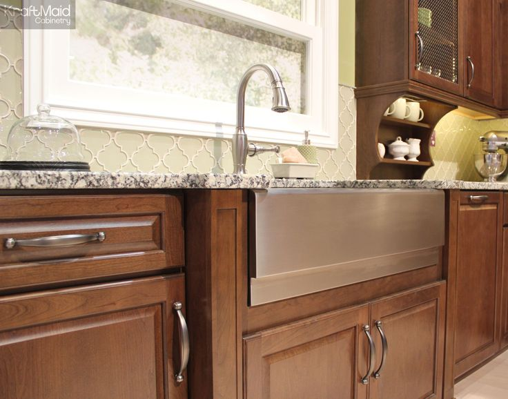 Kraftmaid 39 s new hazel stain showcases a wood s natural - Kraftmaid kitchen cabinets ...