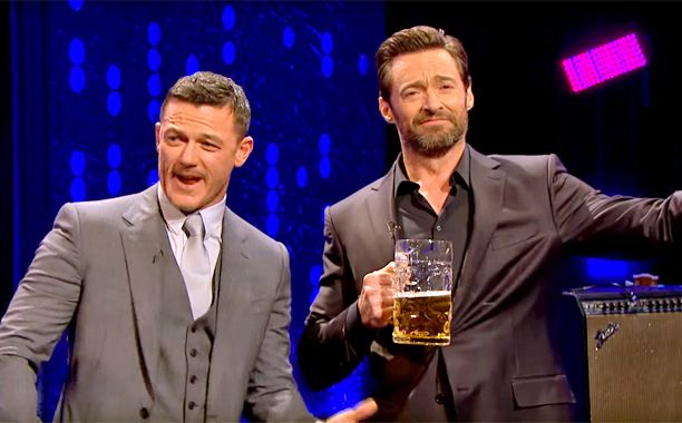 Hugh Jackman and Luke Evans have a sing-off to determine the best Gaston