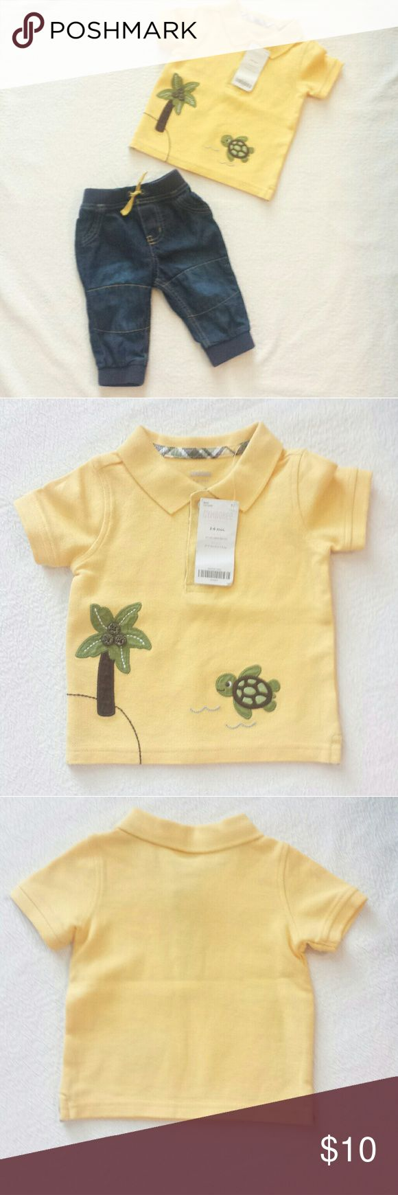 🔴NWT Gymboree Yellow Sea Escape Polo NWT 3-6 month Gymboree Yellow Sea Escape Polo. Cute little sea turtle and an Island w/ a palm tree. Gymboree Shirts & Tops Polos