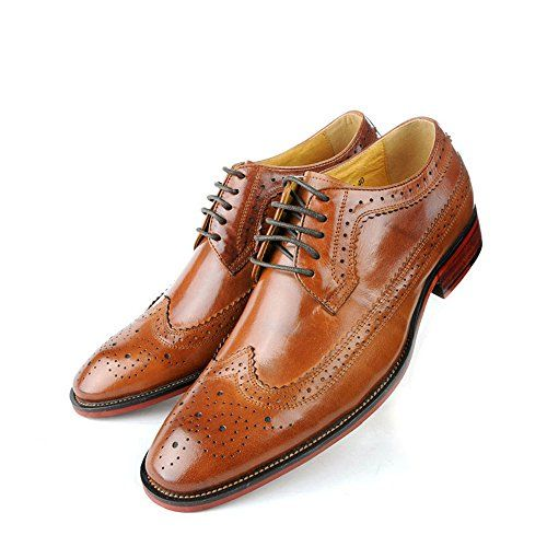 Zorgen Mens Genuine Leather Shoes Pig Lining Carving Dres…
