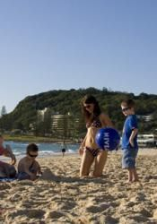 Burleigh Heads is a favourite family destination.