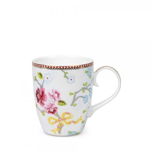 Pip Mug Tasse Becher Chinese Rose WHITE - limited Edition - 350 ml