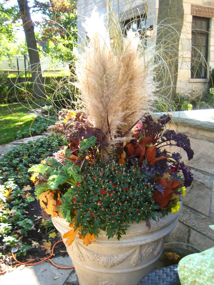 25 best ideas about fall container gardening on pinterest fall containers fall container - Potted autumn flowers ...