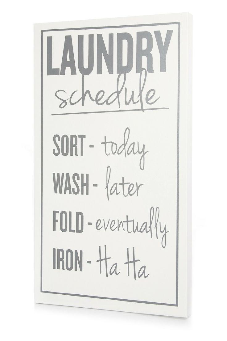 White and Dark Gray Laundry Schedule on HauteLook