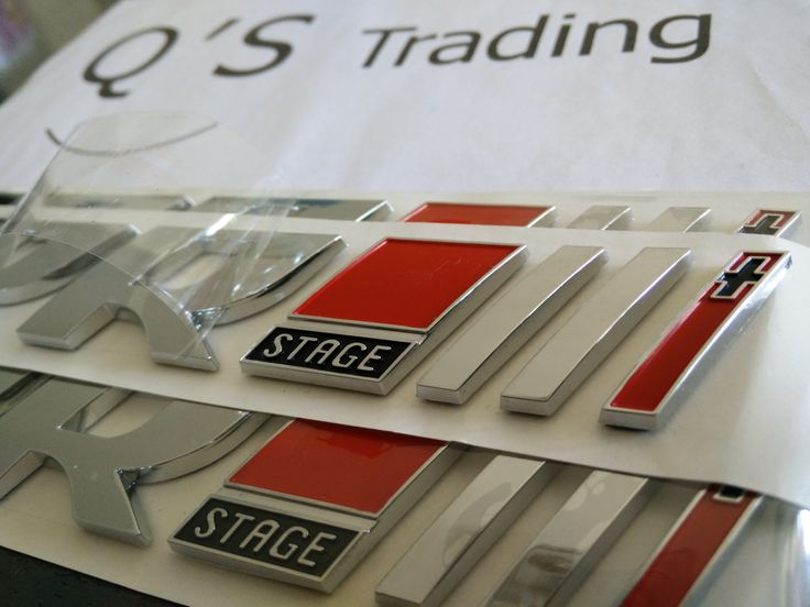 AUDI A4 A6 A7 RS4 RS6 Tuning Stickers badge  APR Badge STAGE III VW VOLKSWAGEN b5 b6  RINGS A1 Q3 Q5 ALL NEW Genuine parts
