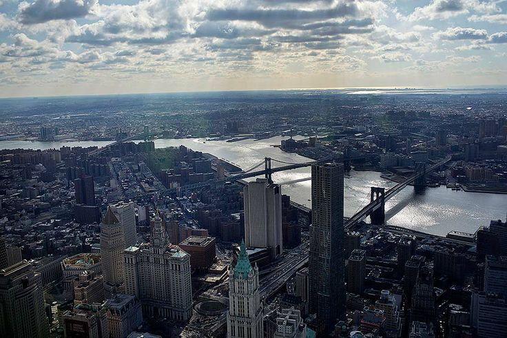 One World Trade Center climbs above Lower Manhattan - Framework ...