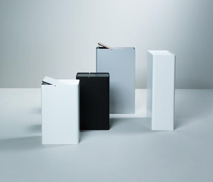 H × W × D [mm]: 500 × 220 × 310 700 × 210 × 420 Body: elm, white, black, silver Swing lid: black, white, oak, walnut