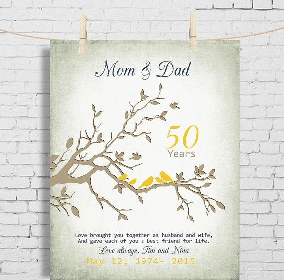 Gift Ideas For 50th Wedding Anniversary For Parents: 50th Wedding Anniversary Gift Anniversary Gift For Parents