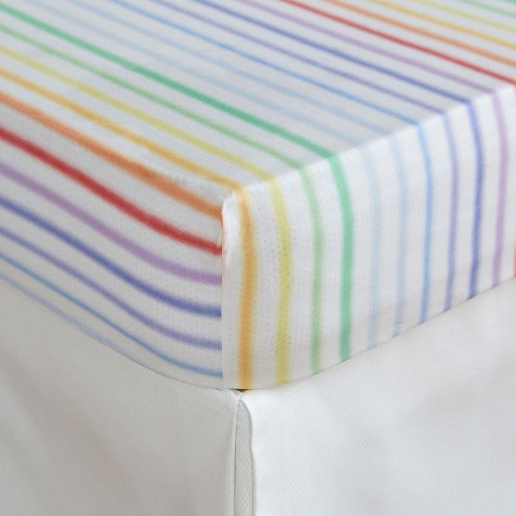 Image 1 of the product Multicoloured Stripe Print Bottom Sheet