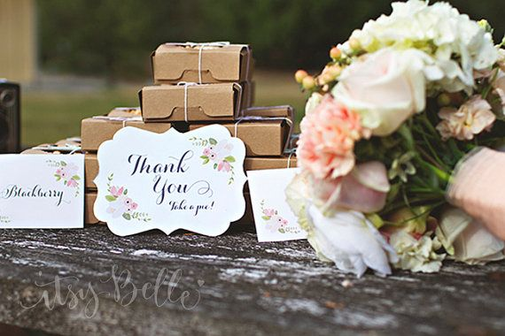 Fancy Labels - Rustic Floral Wedding Collection Instant Download Printables by ItsyBelle, $7.50