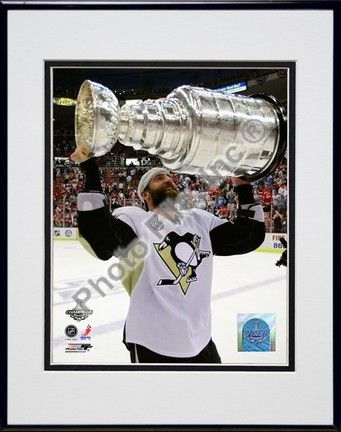 Maxime Talbot Game 7 of the 2008 - 2009 NHL Stanley Cup Finals with Trophy (#47) Double Matted 8 x 10… #sports #sportsshopping #sportswear