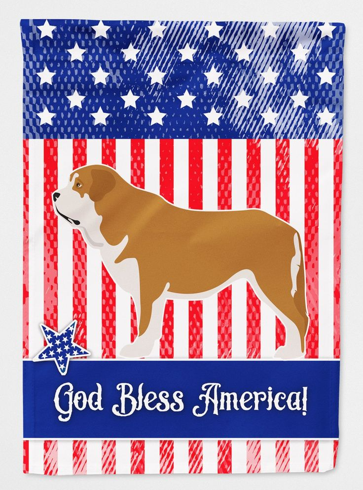 Mastin Epanol Spanish Mastiff American Flag Garden Size BB8430GF