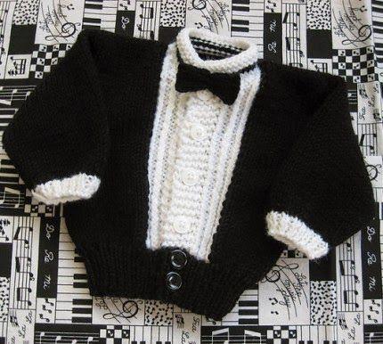 Hand Knitting Tutorials: Li'l Tux for Baby - Free Pattern