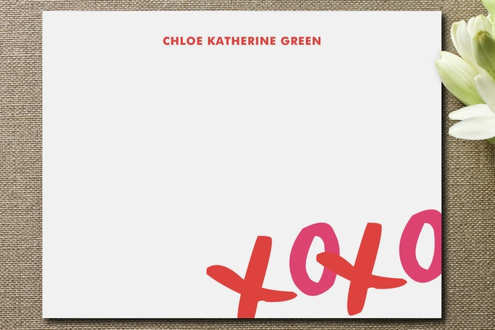 XOXO Stationery from The Social Type.: Cool Stationery, Calligraphy Stationery, Abs, Xoxo Children, Products, Xoxo Stationery, Personalized Stationery