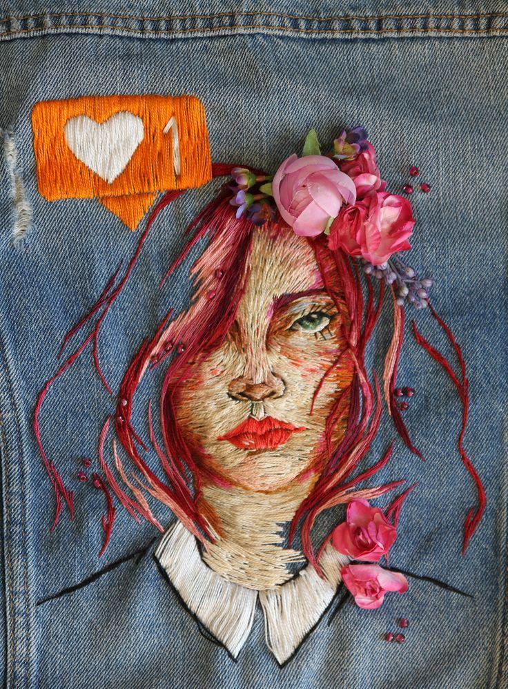 Best portraits brodés images on pinterest embroidery