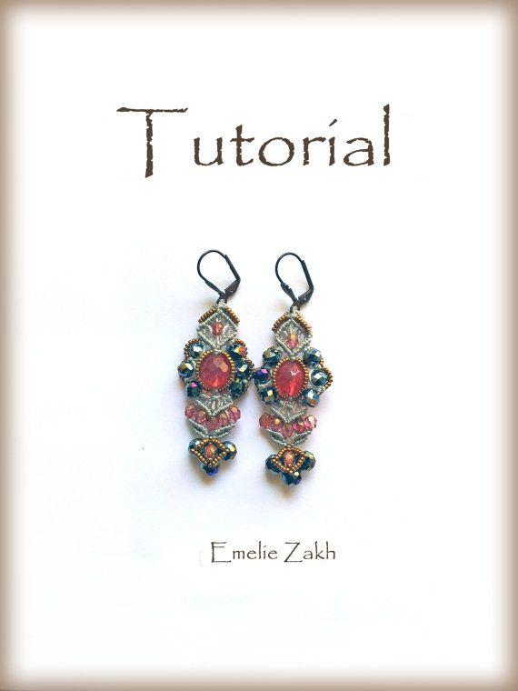 Tutorial.PDF.Micro макраме earrings.Exclusive дизайн!