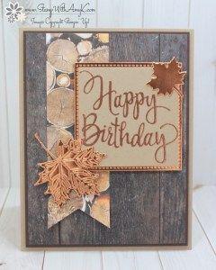 Stampin 'Up! Stilisierte Geburtstags-männliche Karte