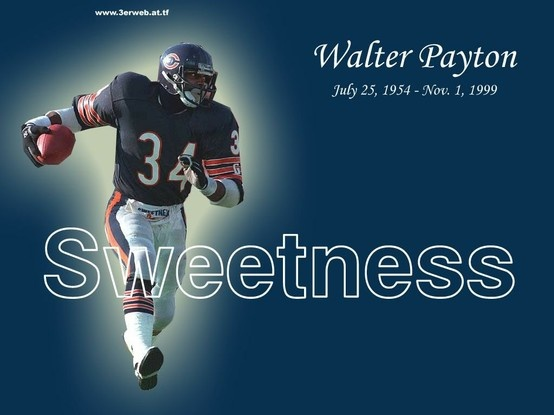 walter payton aka sweetness chicago bears pinterest