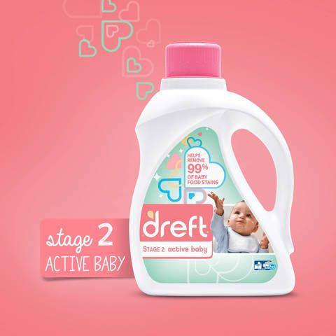 Dreft Laundry Detergent Stage 2 Active Baby- 150 oz