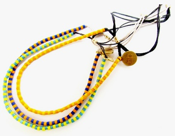 """Set of three colored friendship bracelets: Glass beaded friendship bracelets on 100% silk thread.  Size adjustable with slide bead closure from 5"""" - 7 1/2""""  $80"""