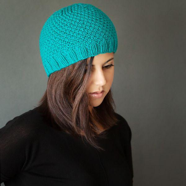 Modern Knit Beanie Free Pattern - knit in the round, so knit pattern as written.