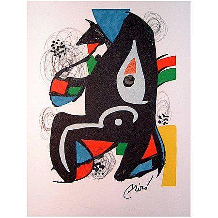 Joan Miro's original lithograph