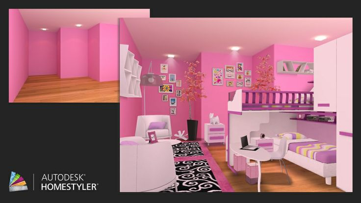 "Check out my #interiordesign ""Girl's bedroom"" from #Homestyler http://autode.sk/Relych"