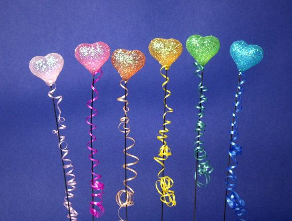 Colorful Shimmering Miniature Heart Balloons for by DinkyWorld