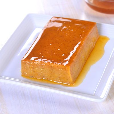 Egg whites and evaporated fat free milk make this Pumpkin Caramel Flan low fat, but it has delicious...